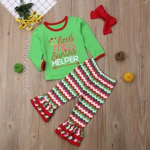 Girls Santa's Helper Seasonal 3pc Matching Set